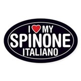 I Love My Spinone Italiano Oval Sticker/Decal
