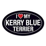 I Love My Kerry Blue Terrier Oval Sticker/Decal