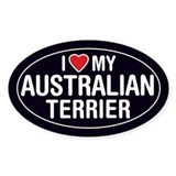 I Love My Australian Terrier Oval Sticker/Decal