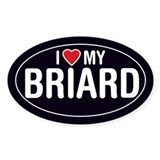 I Love My Briard Oval Sticker/Decal
