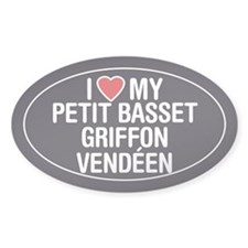 Love My Petit Basset Griffon Vendeen Sticker/Decal