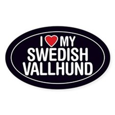 I Love My Swedish Vallhund Oval Sticker/Decal