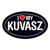 I Love My Kuvasz Oval Sticker/Decal