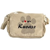 I Love My Kuvasz Messenger Bag