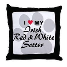 Irish Red & White Setter Throw Pillow