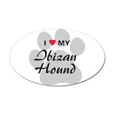 I Love My Ibizan Hound 38.5 x 24.5 Oval Wall Peel