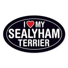 I Love My Sealyham Terrier Oval Sticker/Decal