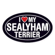 I Love My Sealyham Terrier Oval Sticker/Decal