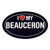 I Love My Beauceron Oval Sticker/Decal