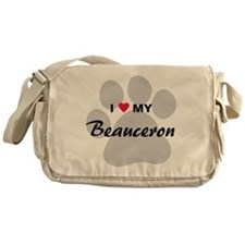 I Love My Beauceron Messenger Bag