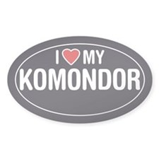I Love My Komondor Oval Sticker/Decal