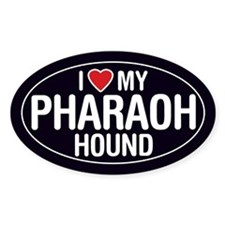 I Love My Pharaoh Hound Oval Sticker/Decal
