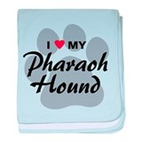 I Love My Pharaoh Hound baby blanket