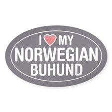 I Love My Norwegian Buhund Oval Sticker/Decal