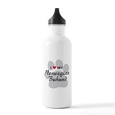 Love My Norwegian Buhund Sports Water Bottle