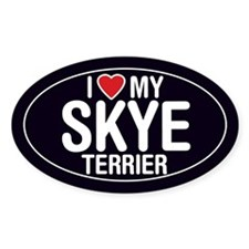 I Love My Skye Terrier Oval Sticker/Decal