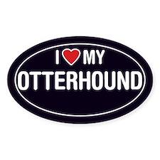 I Love My Otterhound Oval Sticker/Decal
