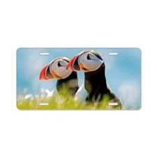 Puffin Pair Aluminum License Plate