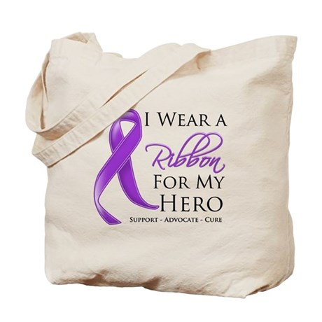 Hero Ribbon Leiomyosarcoma Tote Bag