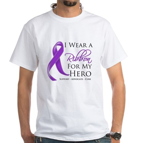 Hero Ribbon Leiomyosarcoma White T-Shirt