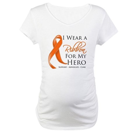Hero Kidney Cancer Maternity T-Shirt