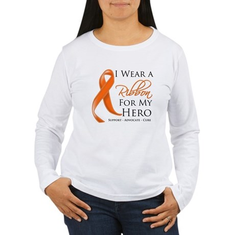 Hero Kidney Cancer Women's Long Sleeve T-Shirt