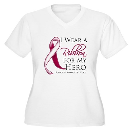 Hero Head Neck Cancer Women's Plus Size V-Neck T-S