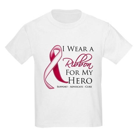Hero Head Neck Cancer Kids Light T-Shirt