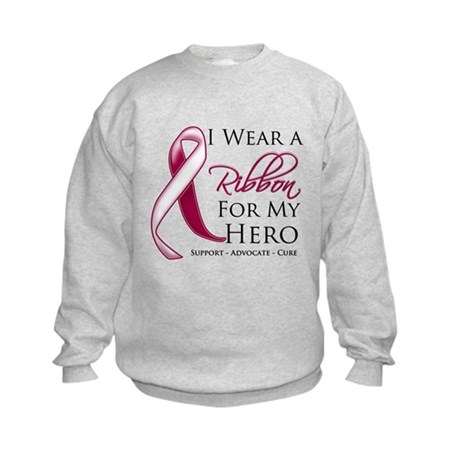 Hero Head Neck Cancer Kids Sweatshirt