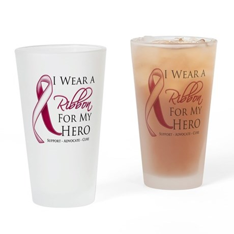 Hero Head Neck Cancer Drinking Glass