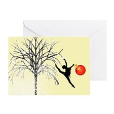 Holiday Dancer by DanceShirts.com Greeting Card