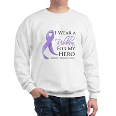 Hero Ribbon General Cancer Sweatshirt