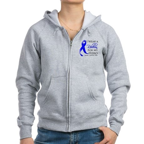 Hero Colon Cancer Women's Zip Hoodie