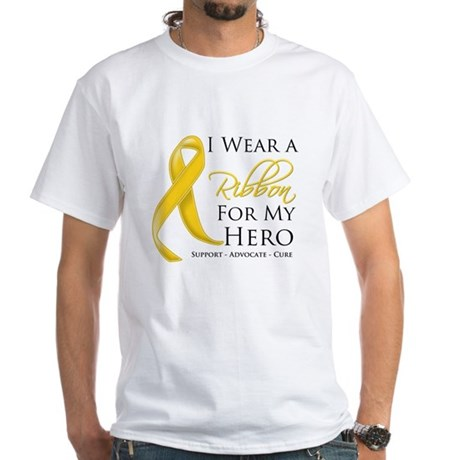 Hero Childhood Cancer White T-Shirt
