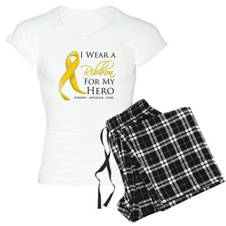 Hero Childhood Cancer Women's Light Pajamas