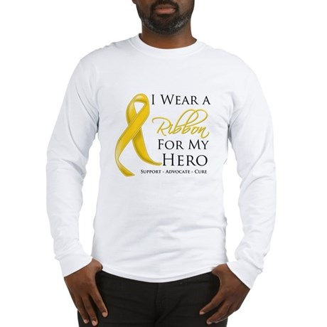 Hero Childhood Cancer Long Sleeve T-Shirt