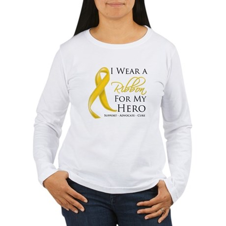 Hero Childhood Cancer Women's Long Sleeve T-Shirt
