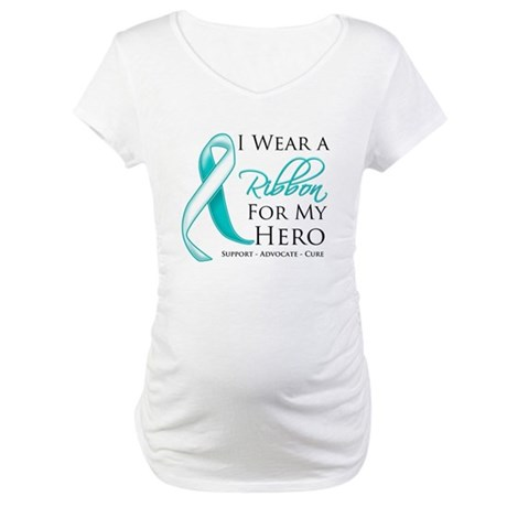 Hero Cervical Cancer Maternity T-Shirt