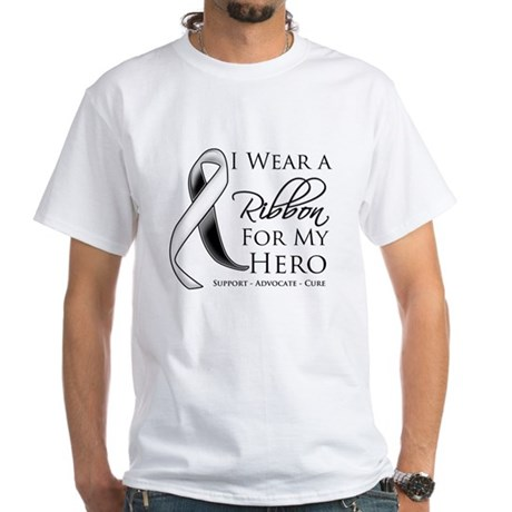 Hero Carcinoid Cancer White T-Shirt