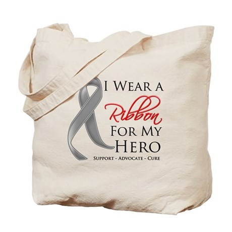 Hero Ribbon Brain Cancer Tote Bag