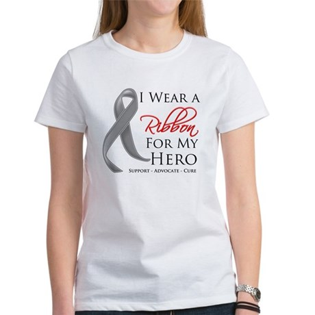 Hero Ribbon Brain Cancer Women's T-Shirt