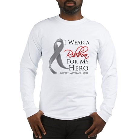 Hero Ribbon Brain Cancer Long Sleeve T-Shirt