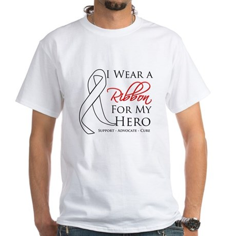 Hero Bone Cancer White T-Shirt