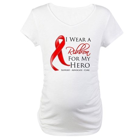 Hero Blood Cancer Maternity T-Shirt