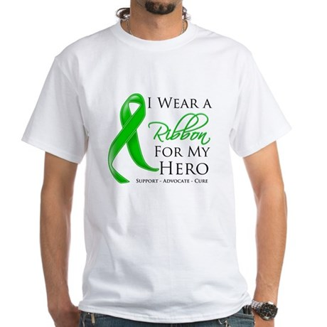Hero Bile Duct Cancer White T-Shirt