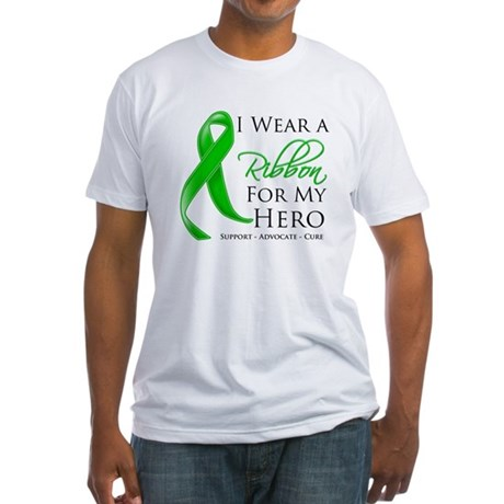 Hero Bile Duct Cancer Fitted T-Shirt
