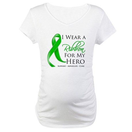 Hero Bile Duct Cancer Maternity T-Shirt