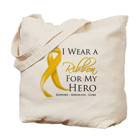 Hero Appendix Cancer Tote Bag