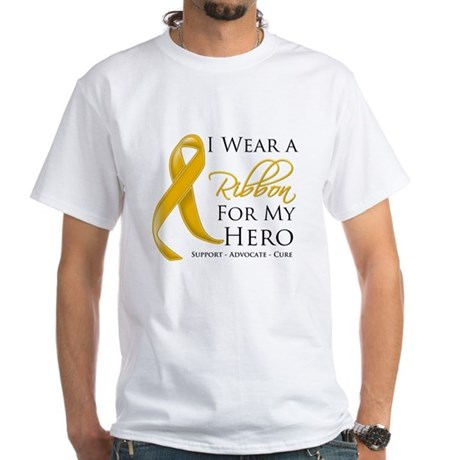 Hero Appendix Cancer White T-Shirt