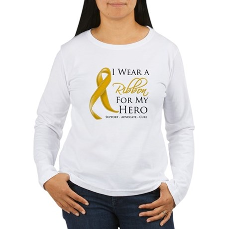 Hero Appendix Cancer Women's Long Sleeve T-Shirt